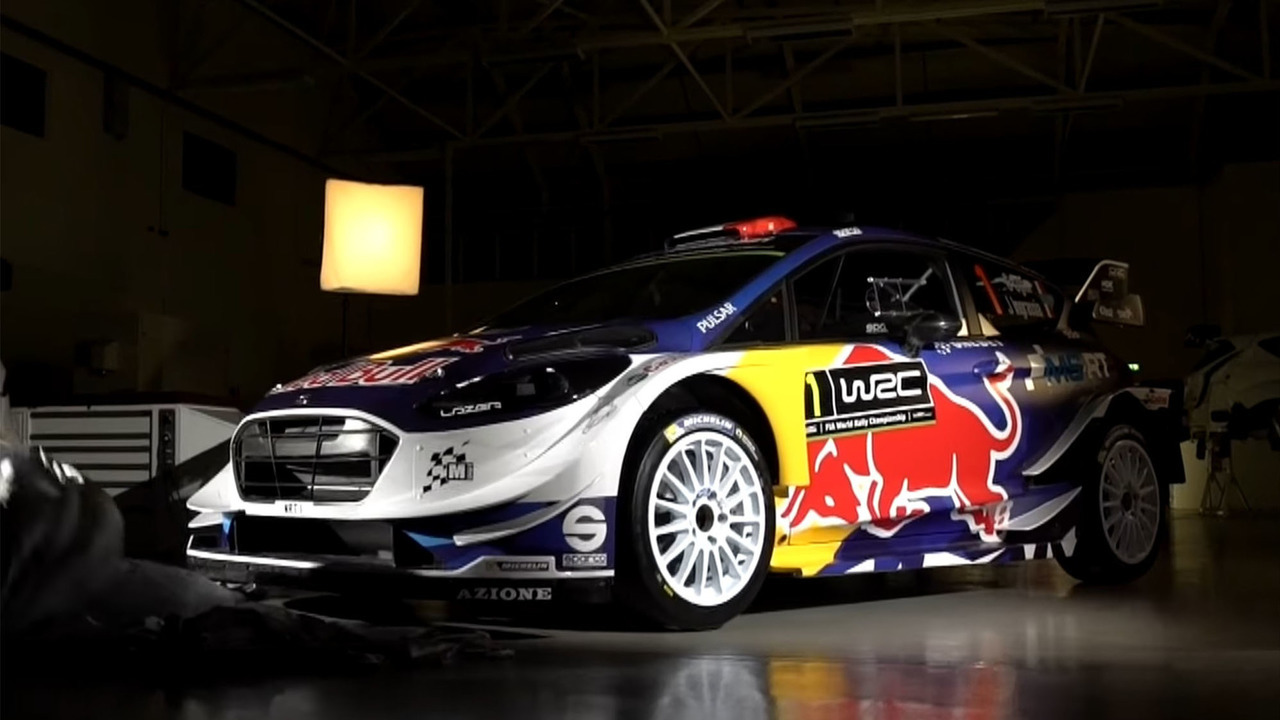 The Victorious Race Car Ford Fiesta Rs Wrc Which In A Rally Stands