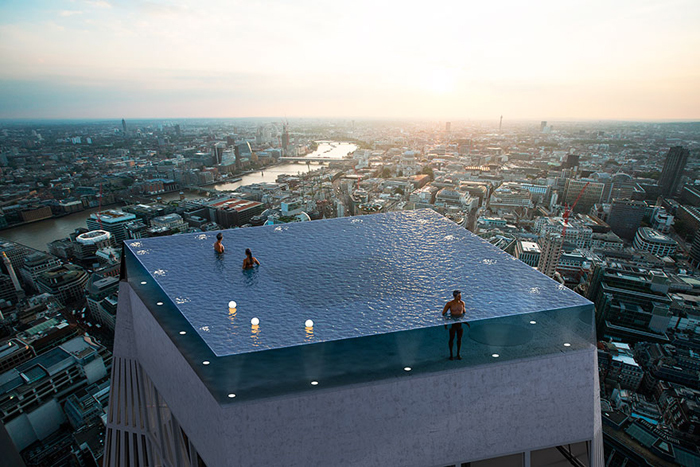 Here You Want To Swim Infinity Pool Instead Of Skyscraper
