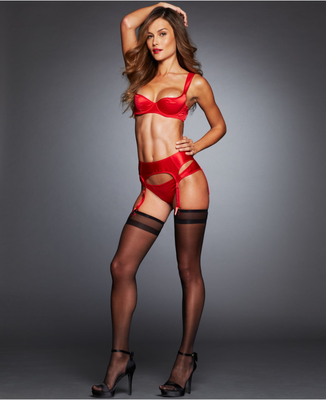 4a3eb3c88 Agent Provocateur  sexy Christmas in gold and red