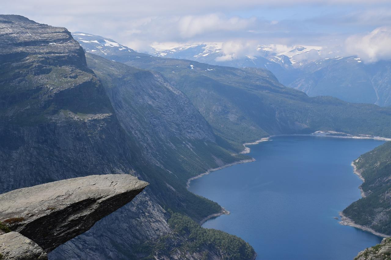 Skalní útvar v Norsku