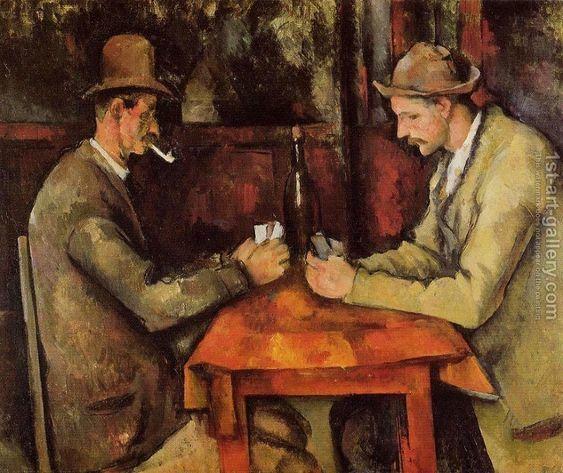 Hráči karet od Paula Cézanna