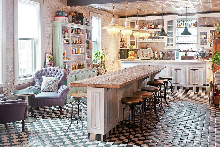 Kitchen in the style of Shabby Chic
