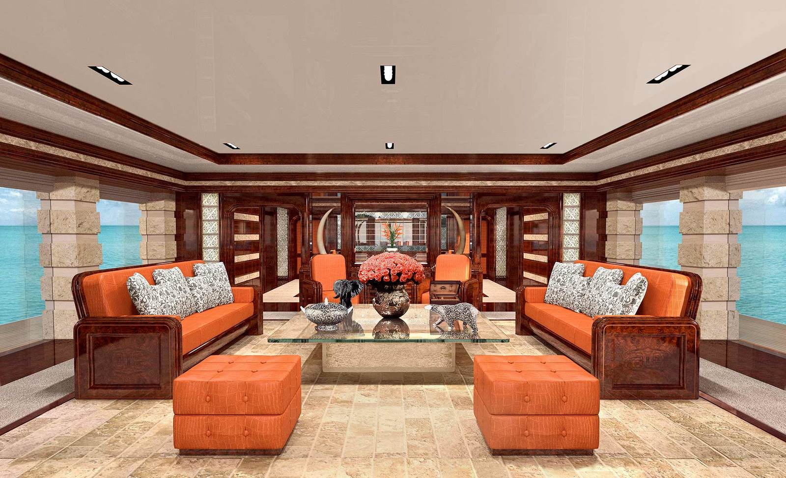 The Interiors of Luxury Yachts What Does Absolute fort Look Like