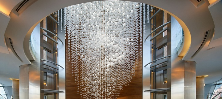Lasvit svítidlo Symphony v Dubai Opera
