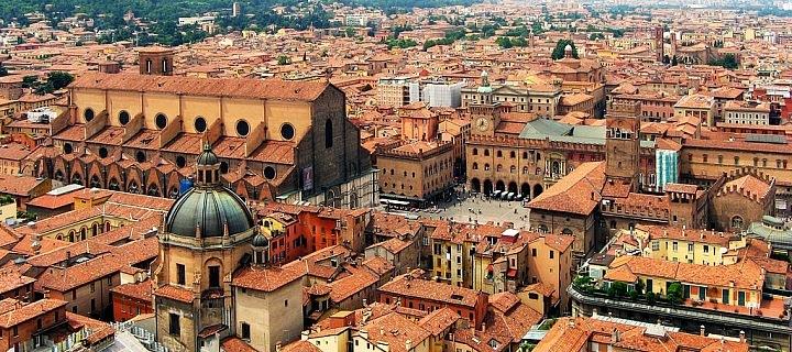 Boloňa, hlavní město Emilia-Romagna