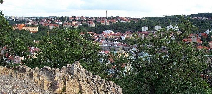 The view of Košíře from Smíchov, Skalka