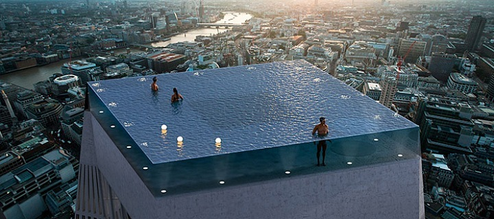 Světový unikát v podobě nekonečného bazénu.