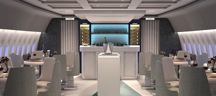 Luxusní bar na palubě