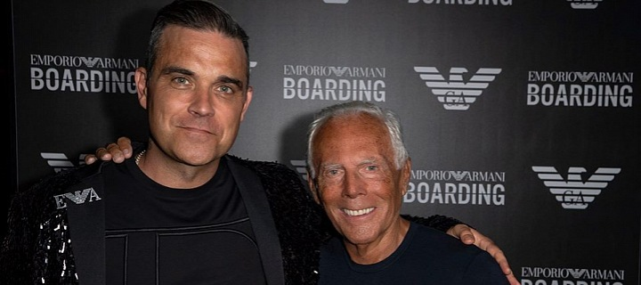 Robbie Williams a Giorgio Armani