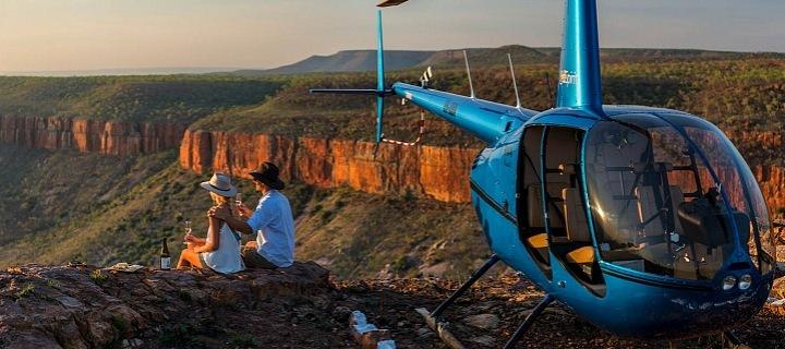 Vrtulník a piknik ve dvou