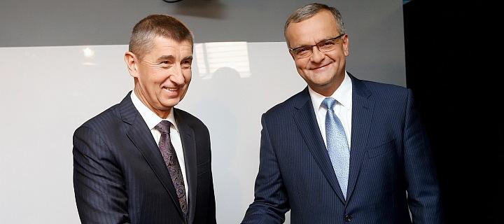 Andej Babiš s Miroslavem Kalouskem
