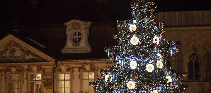 Vánoční strom na Staromáku byl slavnostně rozsvícen!
