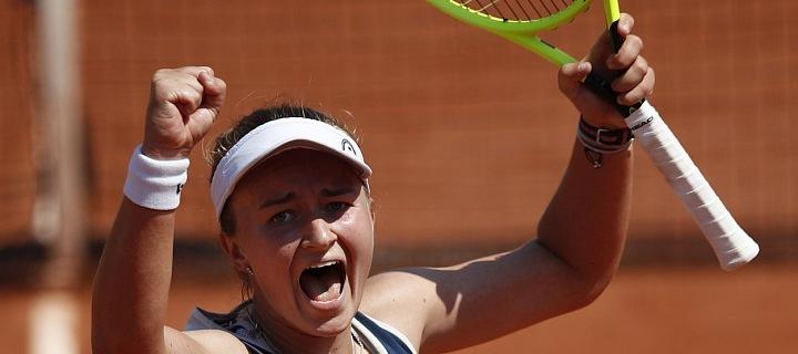 Pětadvacetiletá česká tenistka Barbora Krejčíková