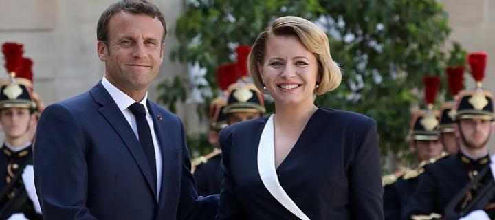 Emannuel Macron a Zuzana Čaputová.