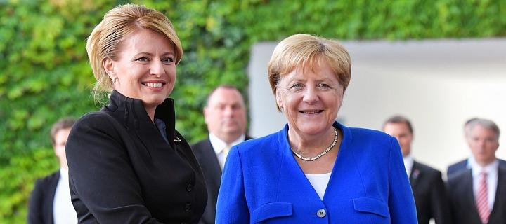 Zuzana Čaputová s Angelou Merkelovou
