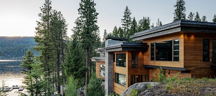 Krásný americký dům Cliff House