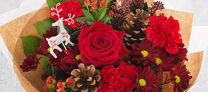 Vánoce s květinami