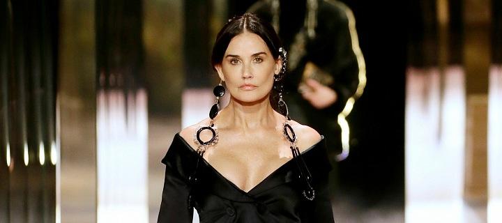 Demi Moore na přehlídce Fendi haute couture Spring 2021