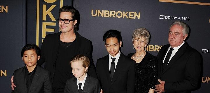 Brad Pitt s dětmi
