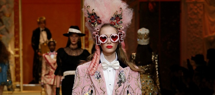 Dolce Gabbana collection again did not disappoint.