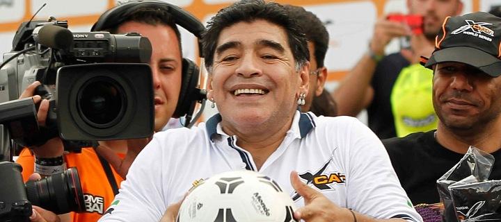 Argentinská fotbalová superstar Diego Maradona