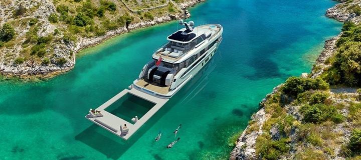 Nová miliardářská jachta Global 330