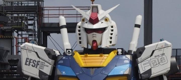 Gundam bude první chodící humanoidní robot.