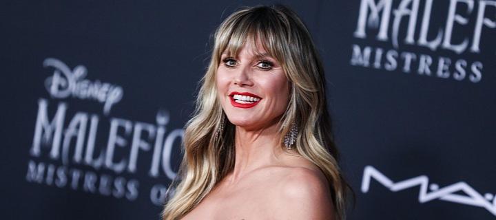 Heidi Klum v červených šatech