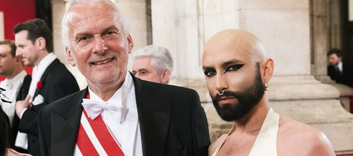 Chonchita Wurst and Minister of Justice Josef Moster