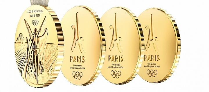 Olympijská medaile, s které se dají odejmout 3 díly