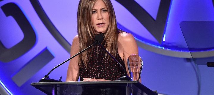 Herečka Jennifer Aniston na ICG Publicists Awards v roce 2020