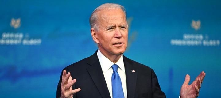 Joe Biden při projevu