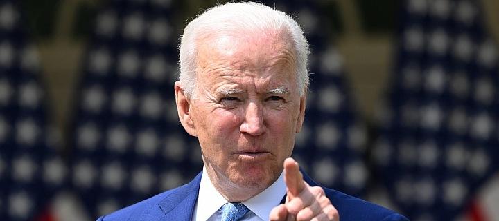 Americký prezident Joe Biden při svém projevu v dubnu 2021