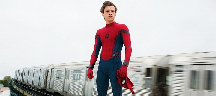 Tom Holland as a Spider-Man