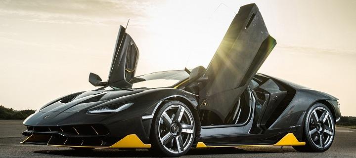 Luxusní vůz Lamborghini Centenario, kupé