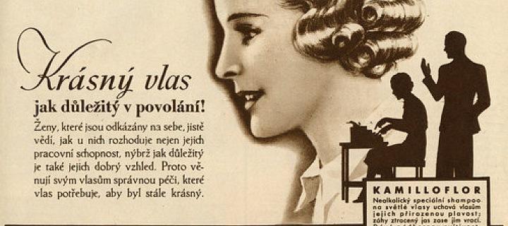 Prvorepubliková reklama na šampon Elida