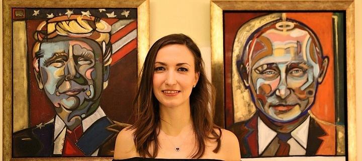Lucie zvěčnila zahraniční prezidenty.