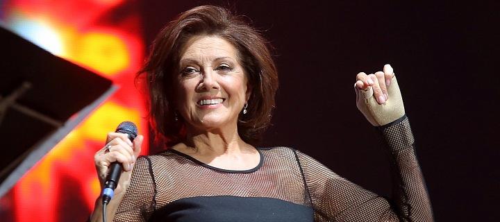 Marie Rottrová během koncertu