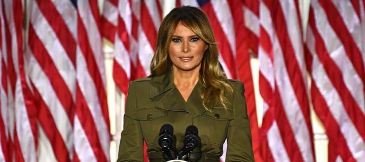 Melania Trump při projevu