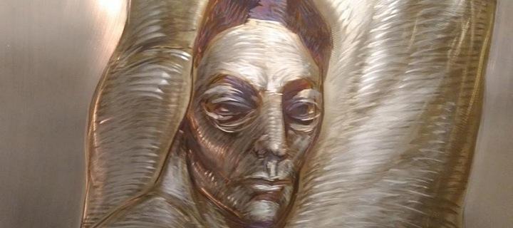Ladislav Vlna tvoří ohněm tváře lidí.