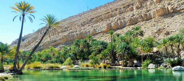 Nádherná příroda v Ománu