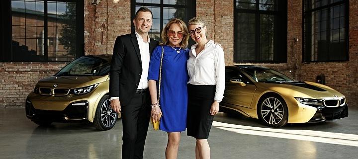 BMW - Zoltán Matuška (designér), Dagmar Havlová, Jana Dvořáková,manažerka BMW