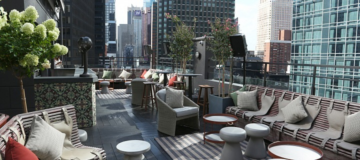 Dream hotel Midtown NY a jeho terasa PHD