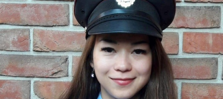 Jana Macháčková v uniformě Policie ČR