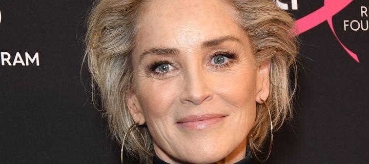Sharon Stone v černém topu