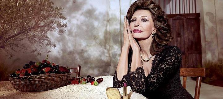 Sophia Loren v reklamě na Dolce a Gabbana