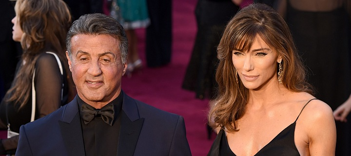 Herec Sylvester Stallone s manželkou