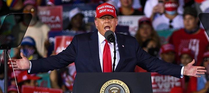 Trump během kampaně