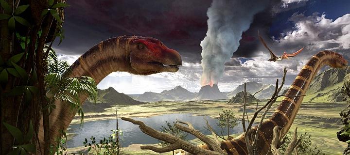 Ve virtuální realitě uvidíte nejen dinosaury, ale i krásnou přírodu.