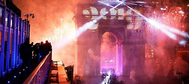 Silvestr na Champs-Elysées